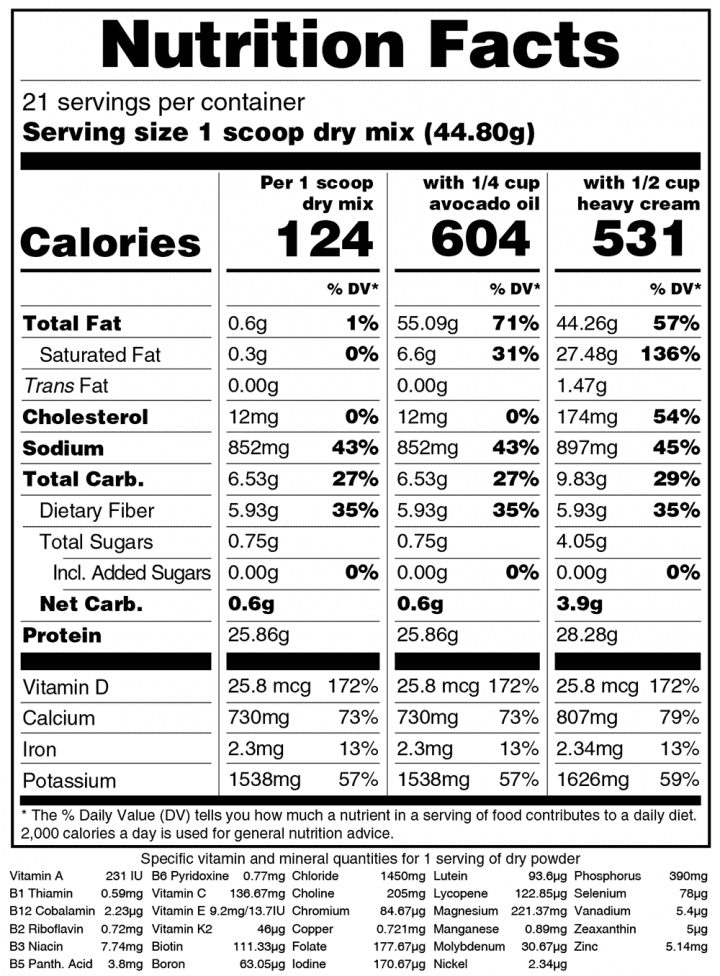 Keto Chow-Salted-Caramel-Nutrition