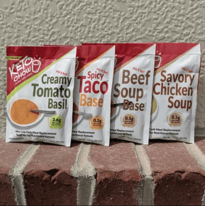 Keto Chow savory samples