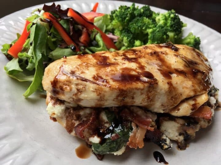 Stuffed chicken easy keto luch ideas for work