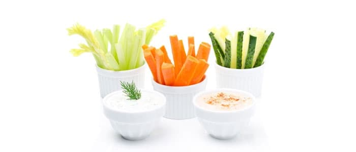 Keto snacks veggies and dip