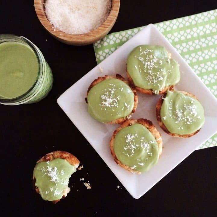 Matcha vegan cupcakes
