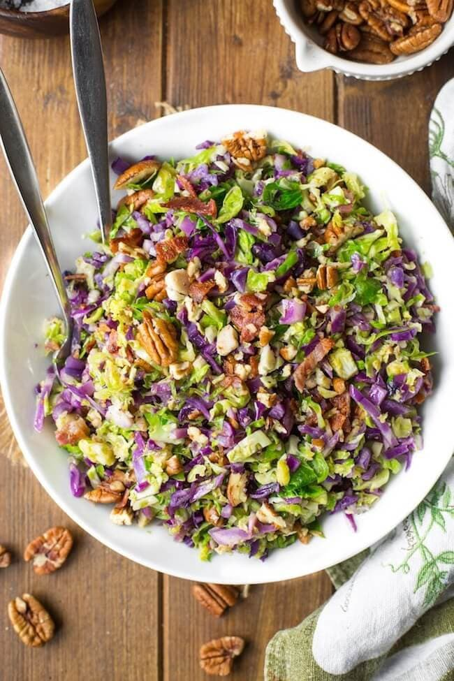 Bacon Brussels & Cabbage Salad