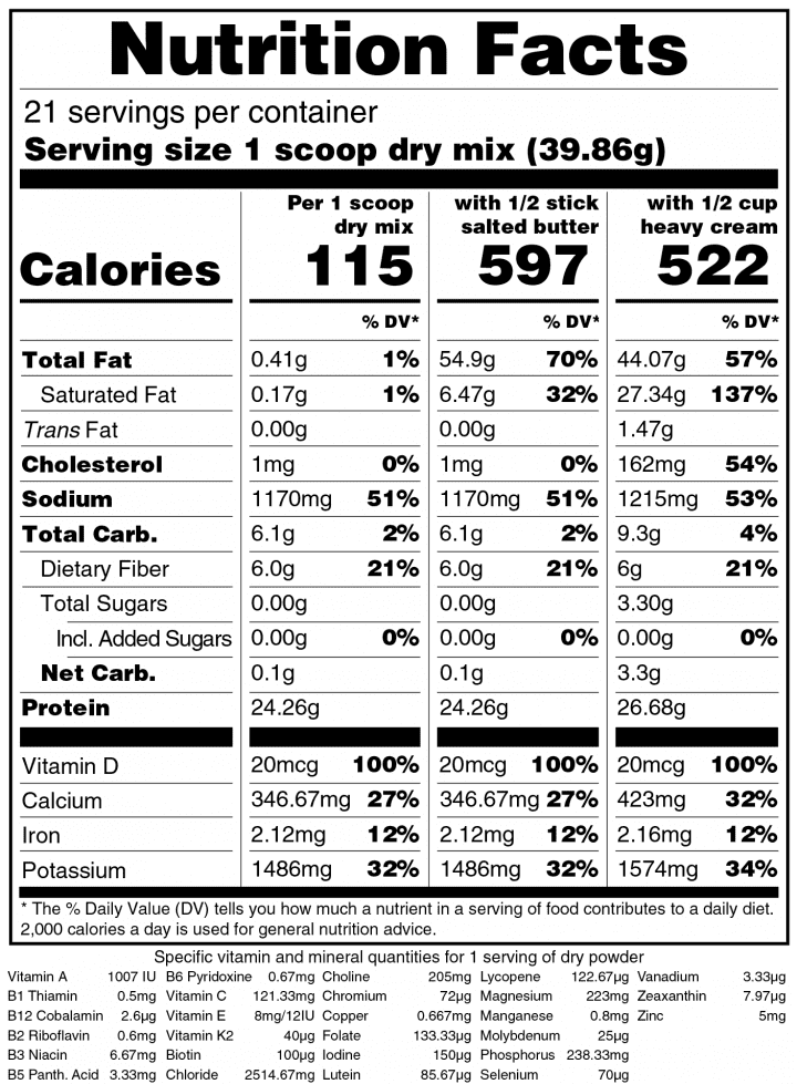 Keto Chow Beef-nutrition-label