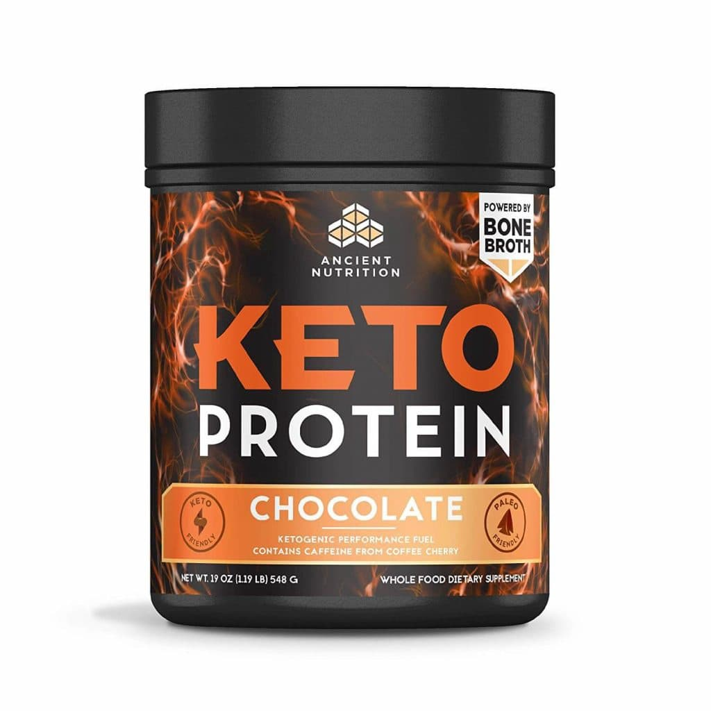 Ancient Nutrition Keto Protein Powder: Chocolate Flavor