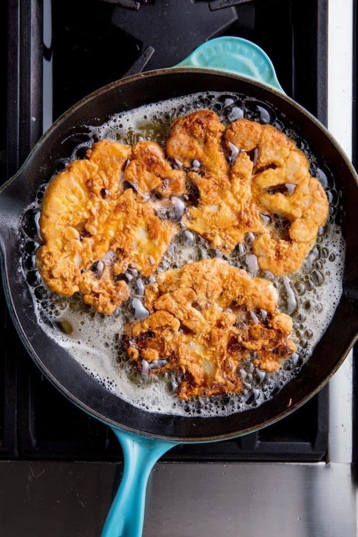 Chicken fried cauliflower keto side dishes