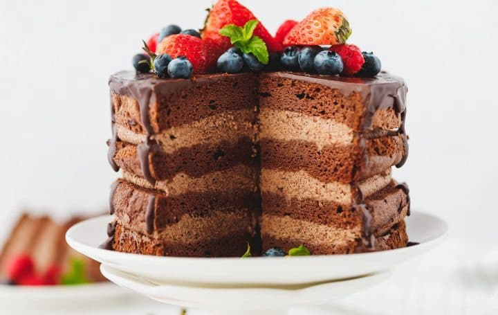 Keto desserts chocolate cake