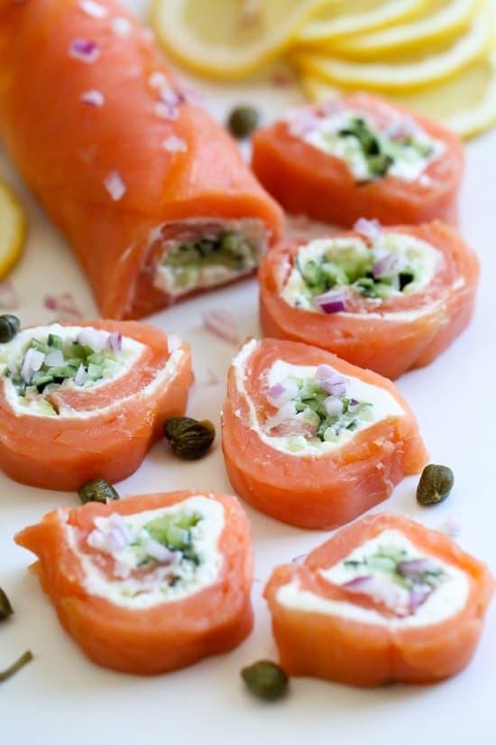 smoked salmon pinwheels